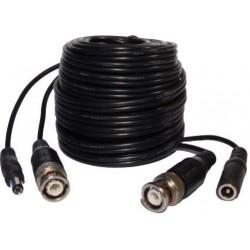 Кабел No brand CCTV със захранване, С букси, Черен, 10m - 18086